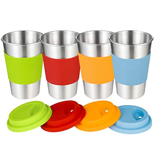 Blesiya Kids Stainless Cup Lovely Small Tumbler Insulated Tea Coffee Mug