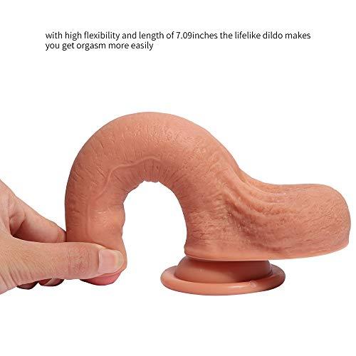 ZHanga8aap1 7,09 inch zachte silicone met dubbele laag op de SE van de vrouwelijk van het spel, realistisch uitziend Dora-massageapparaat stick met Pollon, krachtig cadeau