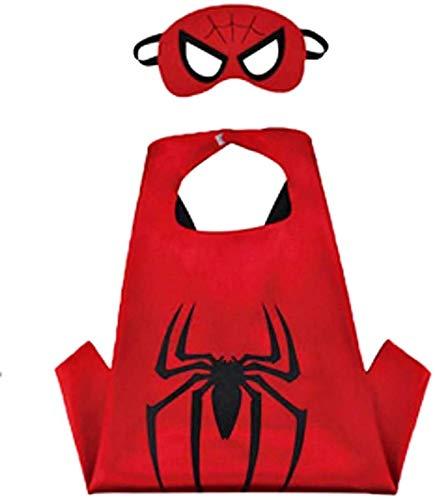 HOUSE CLOUD Costumi da Supereroi Uomo Ragno Spiderman per Bambini - Regali di Compleanno - Costumi di Carnevale - 1 Mantello - con Maschera – Giocattoli per Bambini e Bambine