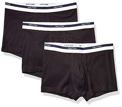 Nautica Classic Underwear Cotton Stretch Trunk Bañadores Ajustados para Hombre, Negro-00101, S