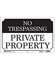 Hy-Ko Products SS-60 NO TRESPASSING Aluminum Sign, 9.25 In x 14 In, Black/White