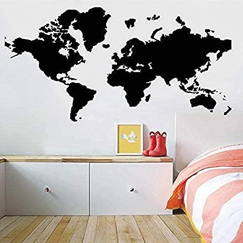 Pegatina de pared,mapa del mundo Tierra Viaje Vinilo Decal Geografía Pegatinas Dormitorio Sala de Estar Decoración Creativa Decoración del Hogar 75x148cm