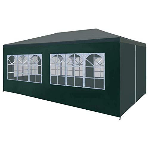 vidaXL Tente de Réception 3x6 m Vert Jardin Terrasse Patio Pavillon Tonelle