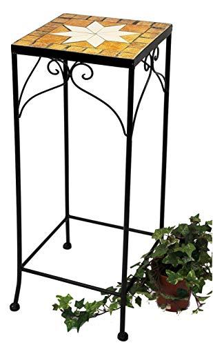 DanDiBo Blumenhocker Mosaik Eckig 62 cm Blumenständer 12012 Beistelltisch Pflanzenständer Mosaiktisch