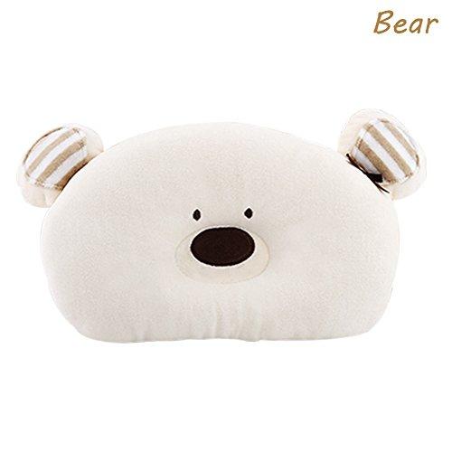olestar Prevenir Cabeza Plana Toddle de cabeza de bebé almohada de apoyo beige oso