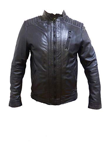 Camp David Leather Jacket Black urban junglers CHS-1801-2016 Gr S