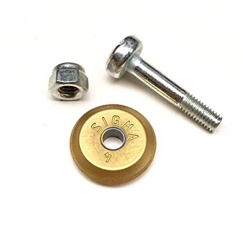 Details zu Sigma Fliesenschneider Ersatzrädchen 12 mm Titan inkl. Achse Titanstahl