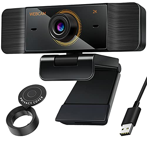 Webcam with Privacy Cover HD 1080P, Web Camera with Microphone Wide Angle for Laptop, Streaming, USB PC Video Conferencing, Desktop, Calling, Gaming, Teaching, Recording, Facetime