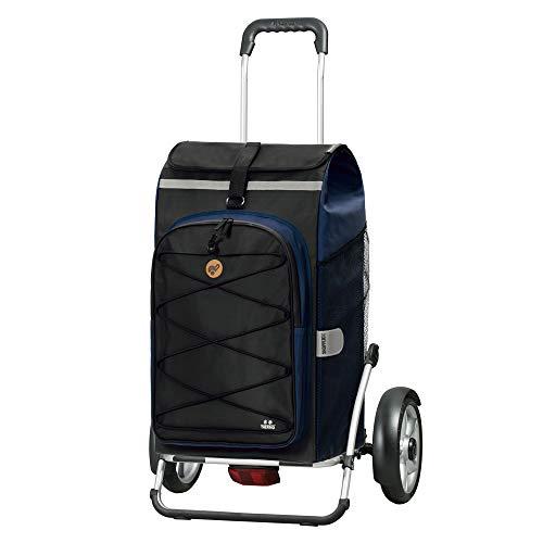 Andersen Shopper Royal Plus Alu klappbar mit Kugellagerrad Ø 25cm und 72 Liter Tasche Fado 2.0 mit Kühlfach blau