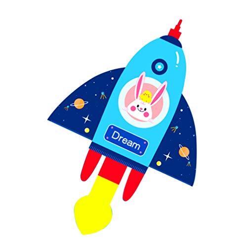 BESPORTBLE Kinder Drachen Rakete Geformt Interessante Interaktive Spiel Requisiten Kinder Spielzeug Fliegen Drachen für Garten Hügel Strand Hof