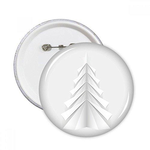 DIYthinker Regalo Botón blanco Resumen árbol de navidad de Origami pernos redondos Placa Ropa decoración 5pcs Multicolor XXL