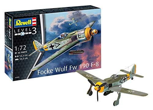 Revell- Focke Wulf Fw190 F-8 Modellino da Costruire, Multicolore, 03898