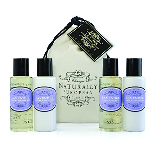 Naturally European Lavender Luxury Travel Size Body Care Gift Collection - 4 x 50ml Gift Set