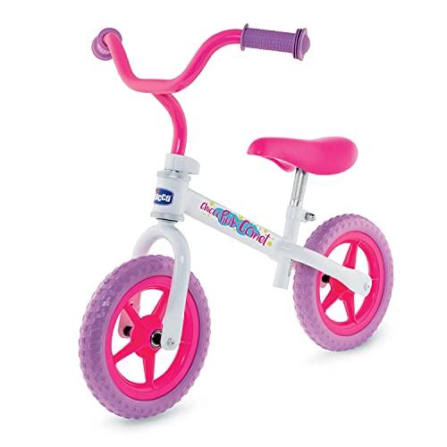 Chicco Pink Comet Bicicletta Bambini Senza Pedali 2-5 Anni, Bici Senza Pedali Balance Bike per lEquilibrio, con Manubrio e Sellino Regolabili, Max 25 Kg, Rosa, Giochi Bambini 2-5 Anni
