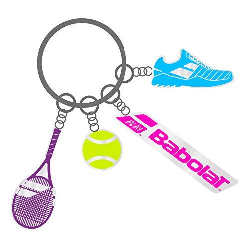 Babolat Charms Tennis-Schlüsselanhänger, Unisex, Erwachsene, Mehrfarbig, Einheitsgröße