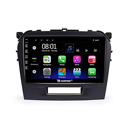 Android 10 Autoradiographie Navigation Automobile Stéréo Automatique Unit é de Commande Principale Lecteur multimédia Système Mondial de localisation Radio Écran Tactile PourSUZUKI Vitara 2015-2019