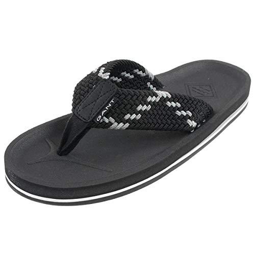 GANT Footwear Herren Breeze Zehentrenner, Schwarz (Black G00), 41 EU
