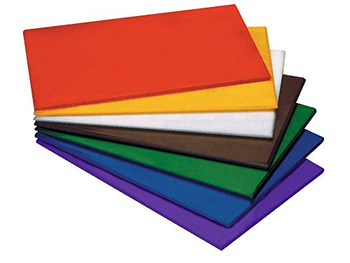 HACCP Schneidbrett aus farbigem (Farbe wählbar) und hochdichtem Polyethylen, nicht toxisch, hitzewiderstandsfähig bis +90°C, messerschonend, hygienisch, mit oder ohne Füßchen   ERK (A19-61 x 46 cm, rot)