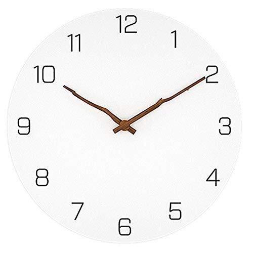 HYY-YY Madera Simple Reloj de Pared de diseño Moderno for Sala de Estar nórdica Breve Madera Relojes de Pared Reloj Blanco...