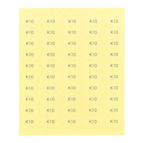 台紙用シール 10×5mm 日本製 アクセサリー台紙用 (K10・透明, 250枚)