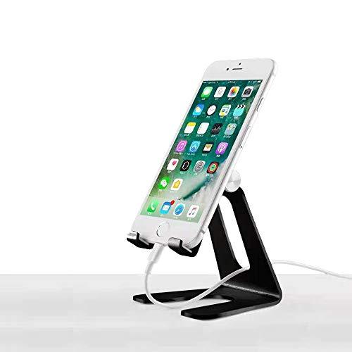 Soporte de teléfono, soporte universal ajustable para iPhone y dispositivos Android | Negro