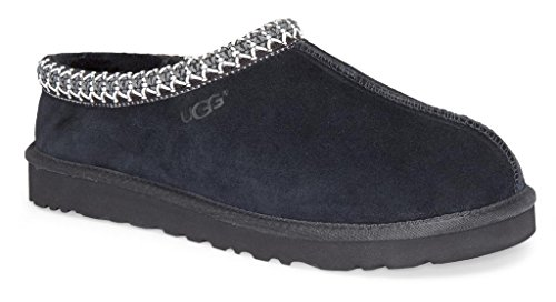 UGG Australia Men's Tasman Black Suede Slippers - 10 D(M) US