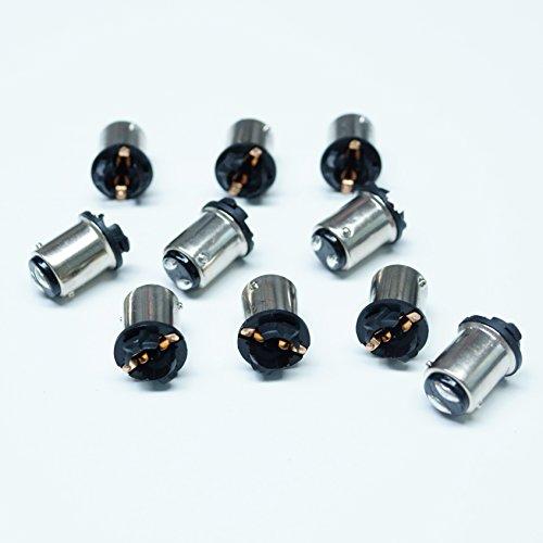 PA Lot de 10 adaptateurs pour ampoules T10 168 194 vers BA15D