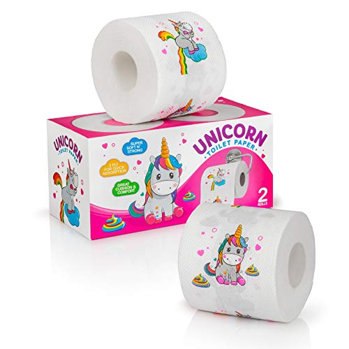 Unicorn toilet paper, Pink Toilet Paper for Toddler Potty Training, Novelty Toilet Paper , Colored...