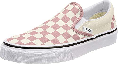 Vans Mens U Clasic Slip ON Checkerboard Zephyr Pink Size 9