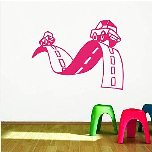 Wandaufkleber,Kinder Rooma Kunstdekor Wandbild Straße Einfahrt Baby Auto Wandaufkleber Wandbilder Kinder Jungen Kinderzimmer Wohnkultur Wandtattoo57 * 75 Cm