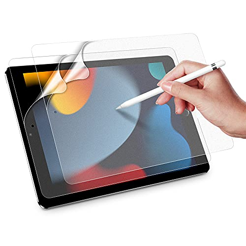 ESR Paper-Feel Bildschirm Schutzfolie kompatibel mit iPad 9. Generation, iPad 8. Generation 2020, iPad 7. Generation 2019/iPad Air 2019, unterstützt iPad Pencil, blendresistent Matt PET Folie, 2 Stück