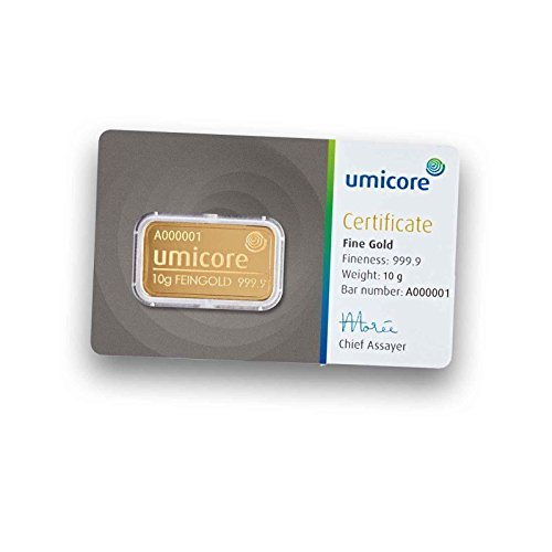 Umicore 10g Gramm Goldbarren 999.9