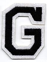 G – Buchstabe; Aufnäher/Patch mit Bügel-Klebe-Fläche zum fixieren