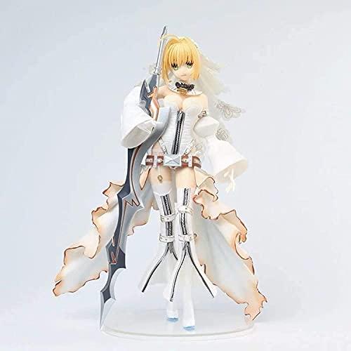 WBXM Fate/Grand Order Nero Claudius Bianco Dress Abito da Sposa Animazione Carattere di Animazione Decorazione Statua Anime Carattere 24CM