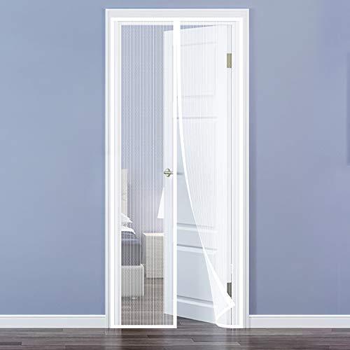 QH-Shop Fliegengitter Tür,Magnet Fliegengitter Automatisch Verschließen mit Heavy Duty Mesh und Full Frame Klettverschluss ohne Bohren für Balkontür Wohnzimmer Terrassentür 100 x 220cm