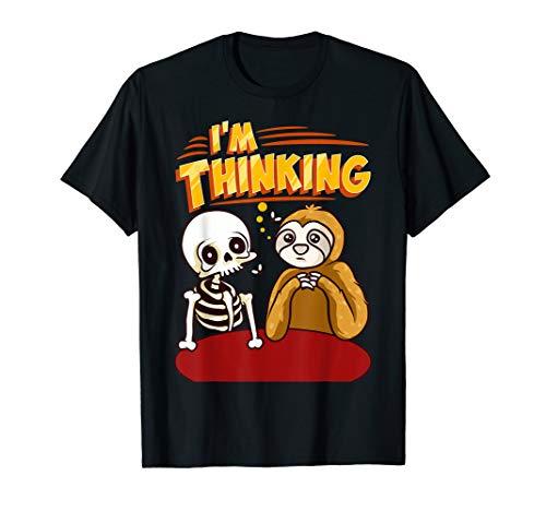 Waiting Skeleton Thinking Meme Dead T-Shirt