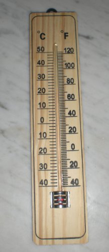 Importacion - Termometro Madera 22cm. Blister