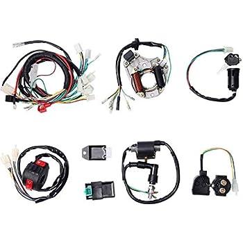 Amazon Com Templehorse Complete Electrics Stator Coil Cdi Wiring Harness For 4 Stroke Atv Klx 50cc 70cc 110cc 125cc Automotive