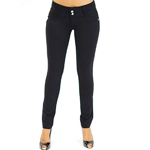 BAINA Damen Hose Skinny Röhre Push up Hose Stretch Slimfit Jeggings Leggings Stretch Röhrenjeans Jeans