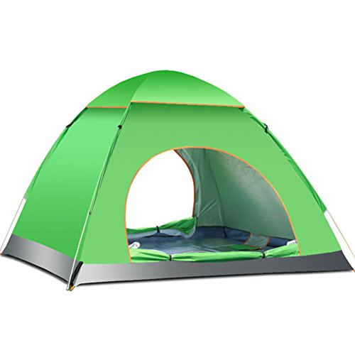 TINKSKY 3-4 Person Beach Sun Shelter Camping Tent: Fast and Automatic for Best Family Camping, Fishing, Hiking or Outdoor Picnic (Green)