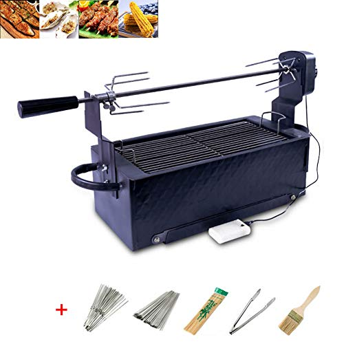 Fully Automatic Barbecue Grill, Roasted Lamb Leg Automatic Roasting Grill Holzkohlegrill Picknickgrill Outdoor Tischgrill, Holzkohle Grill Für BBQ Party Garten Camping Picknick 70*23*65cm