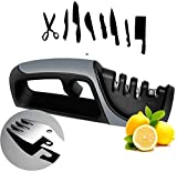 Kitchen Knife Sharpener - 2020 Upgraded 4-Stage Knife Sharpener and Scissor Sharpener,With Spork Spoon