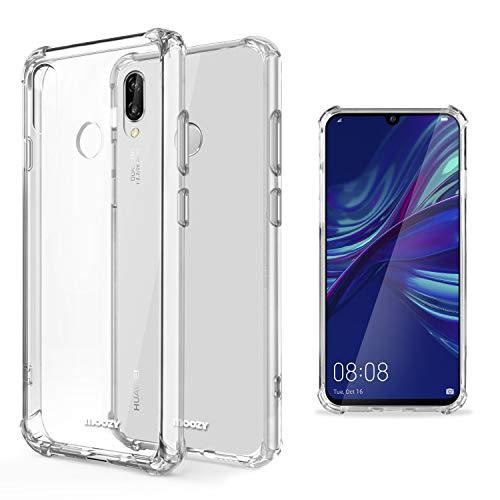 Moozy Funda Silicona Antigolpes para Huawei P Smart 2019, Honor 10 Lite - Transparente Crystal Clear TPU Case Cover Flexible