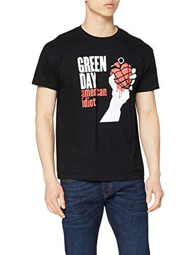 Green Day Herren American Idiot Kurzarm T-Shirt Gr. M, Schwarz