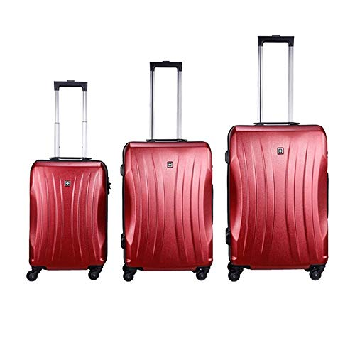 Mode Ontwerp 20in 24in 28in Bagage 3 Stuk Set Koffer Spinner Hardshell Lichtgewicht Geneste Sets Carry-on Staand Koffer 360° Stille Spinner Multidirectionele Wielen Voor Mannen Vrouwen Reizen Airplan