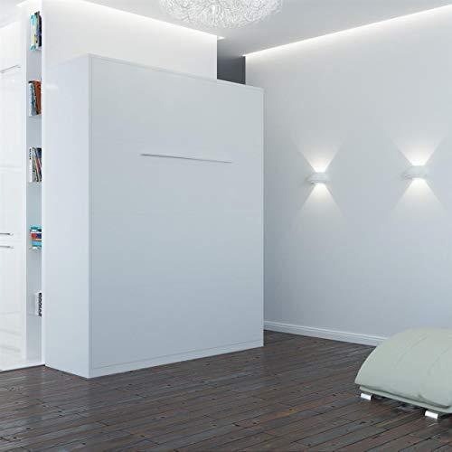 Schrankbett 160×200 weiss mit Gasdruckfedern, ideal als Gästebett – Wandbett, Schrank mit integriertem Klappbett, SMARTBett - 3