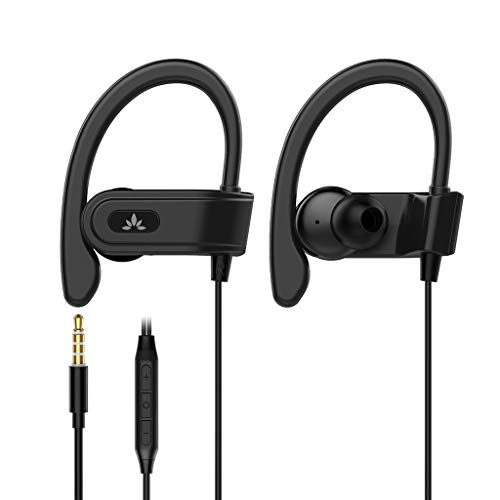 Avantree Sports Headphones Wired with Microphone, Sweatproof Running Over Ear...
