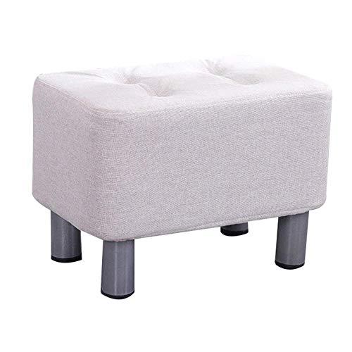 FSYGZJ Taburete para pies Taburete para sofá Moda Rectángulo Creativo Banco de Zapatos Pie de Cama Sala de Estar Dormitorio Transpirable, 10 Colores (Color: B, Tamaño: 40x28x28cm)