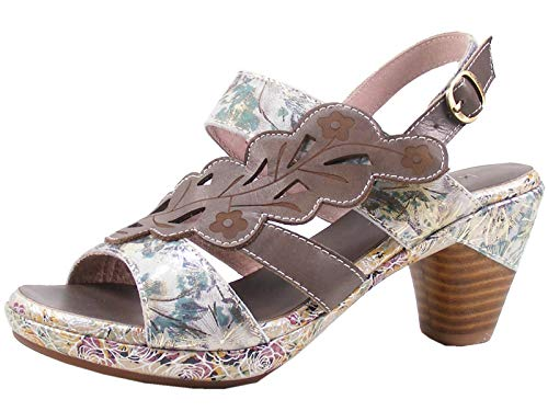 LAURA VITA Beclforto 12 Sandales Mode Femme, schuhgröße_1:39, Farbe:Gris