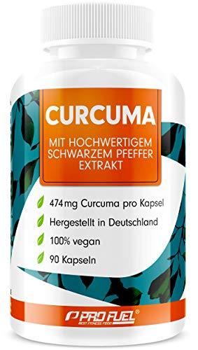 Curcuma Kapseln hochdosiert: EINE Curcuma-Kapsel entählt das Extrakt aus 23.700mg Kurkuma-Pulver - 100% natürliches Curcuma-Extrakt (C14 zertifiziert) + schwarzer Pfeffer-Extrakt - 90 Kapseln - vegan